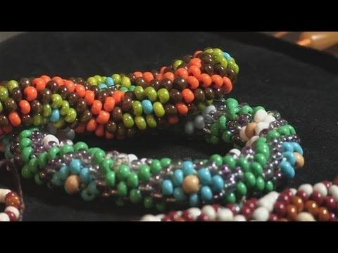 Video: How To Make Your Own Bracelet Using Crochet - just the basics ~ Seed Bead Tutorials