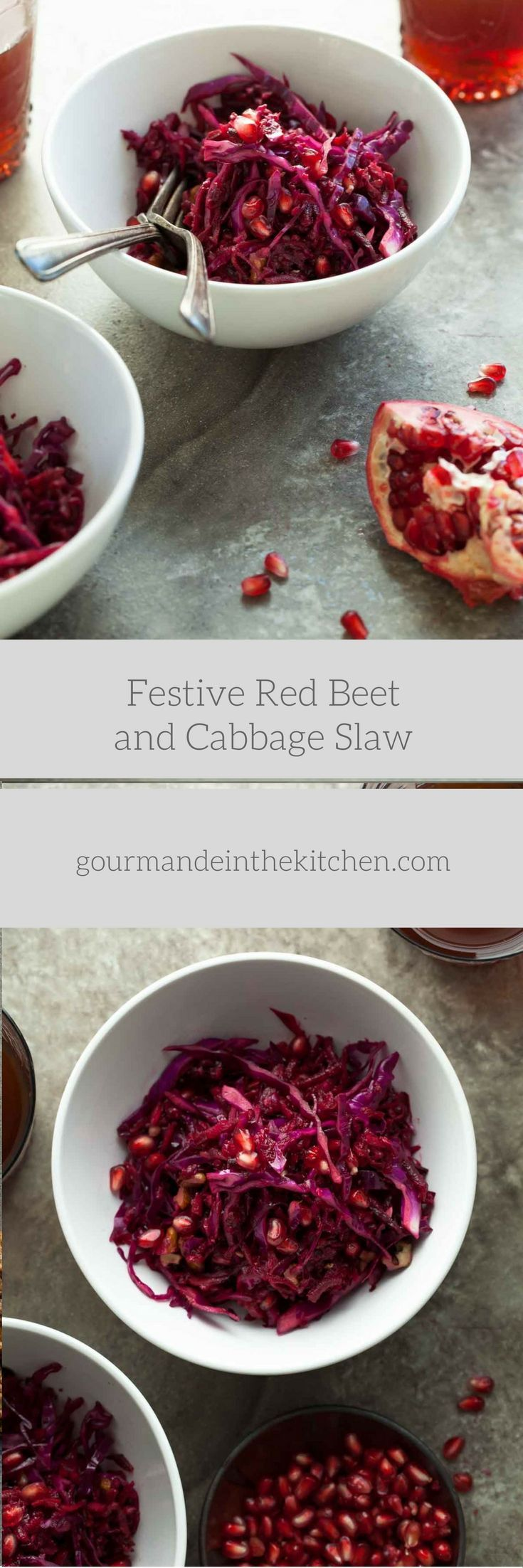 A festive red slaw filled with the bold colors and flavors of beets, carrots, red cabbage and pomegranate. The holidays are fast approaching, and pretty soon we'll be in the thick of it. Between t…