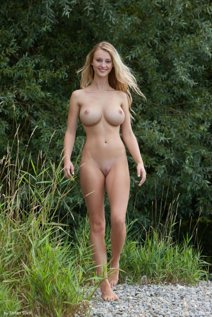 girls outdoors naked half