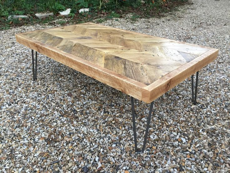 Reclaimed wood chevron coffee table, available on my website & in my Etsy shop https://www.etsy.com/uk/listing/482622848/reclaimed-wood-chevron-coffee-table