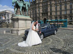 Lea Cars provide cars for a great many weddings in Merseyside. Our Bentley Arnage was the car of choice for Samantha Allen when she married Stuart Astbury at St George's Hall and afterwards at the Adelphi Hotel in August.