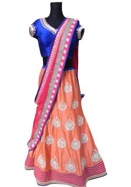 Multicoloured Lehenga — Chamee and Palak — Lehengas   Indianhanger.com