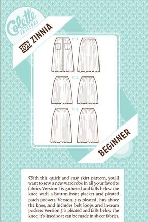 Zinnia Skirt - Colette Patterns