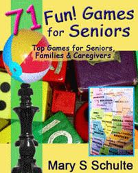 """Get great elderly games to exercise those """"mental muscles"""" and memory, relieve stress; for groups or solo, all seasons, indoors and out!"""