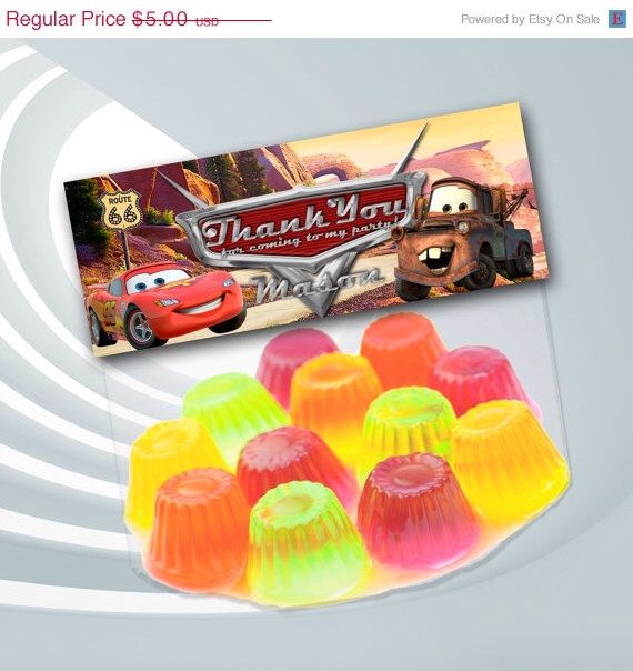 45% SALE Disney Cars Favor Bag Toppers - Disney Cars Birthday Party - Disney Cars Printable - Disney Cars Thank You by ticketparty on Etsy https://www.etsy.com/listing/205997106/45-sale-disney-cars-favor-bag-toppers