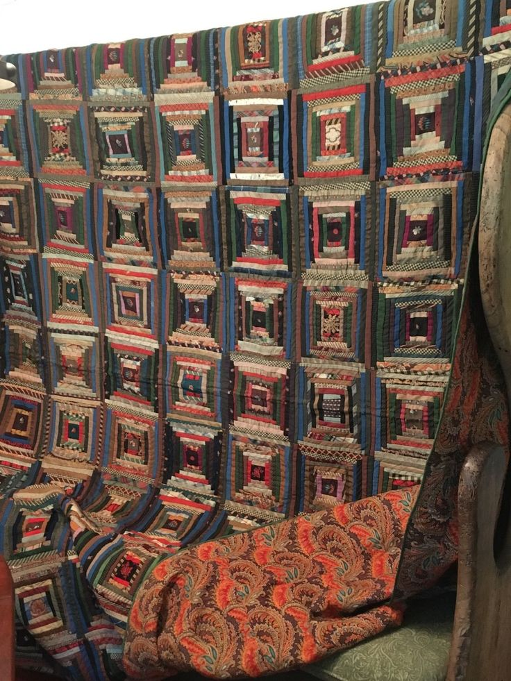 This beautiful all original mid 1800s Log Cabin quilt has been appraised by Rocky Mountain Quilts of York, Maine in August,2015. This was a verbal appraisal so there is nothing in writing. ( anyone who picks up Quilt in Newburgh, NY will get a Quilt Wall Hanger for free!).   eBay!