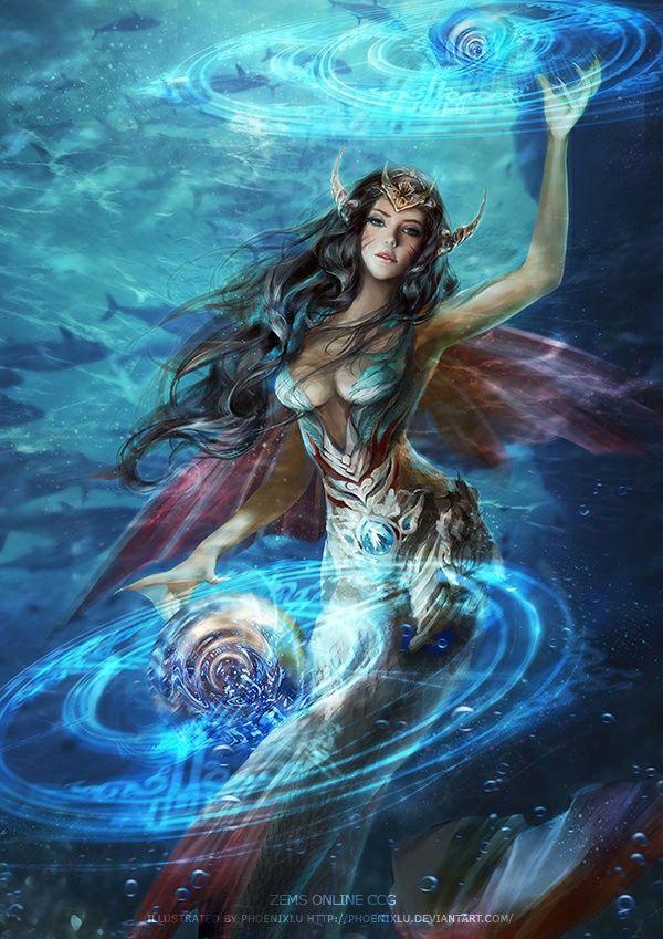 Amphitrite, the queen of the sea di 2021 | Mitologi, Makhluk mitologi