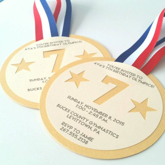 Made to order, so they are easily customized to match your color scheme or theme. Pack of 10 Medal is 4 1/4 across Envelopes included (Classic