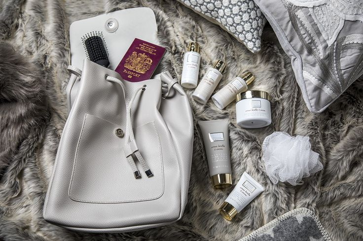 Our chic beauty backpack is full of sweet smelling goodies in the La Maison Crème Brulee & Cocoa range - perfect for a wintery weekend away!
