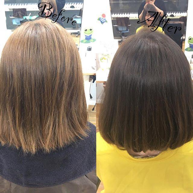 担当【安積絵里】  Before → After  new 新色 🌹💕 #Before#hairstyle #after#ヘアセット#haircolor #new #京都#宇治#clock#kyoto#大学生#アメリカ#留学#カナダ#ソフトボール#先生#高校#cute #塾#妹#弟#family #BBQ#肉#夏#summer #instagood #GW