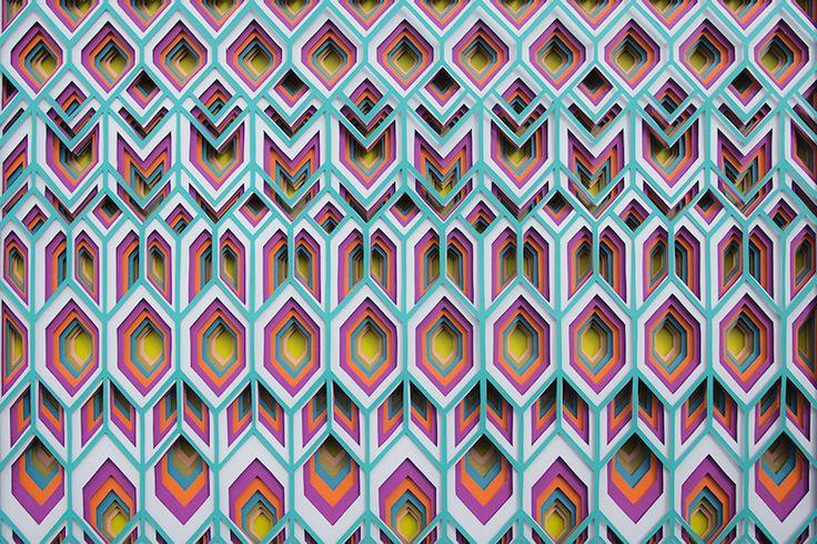 Maud Vantours' 3D paper art