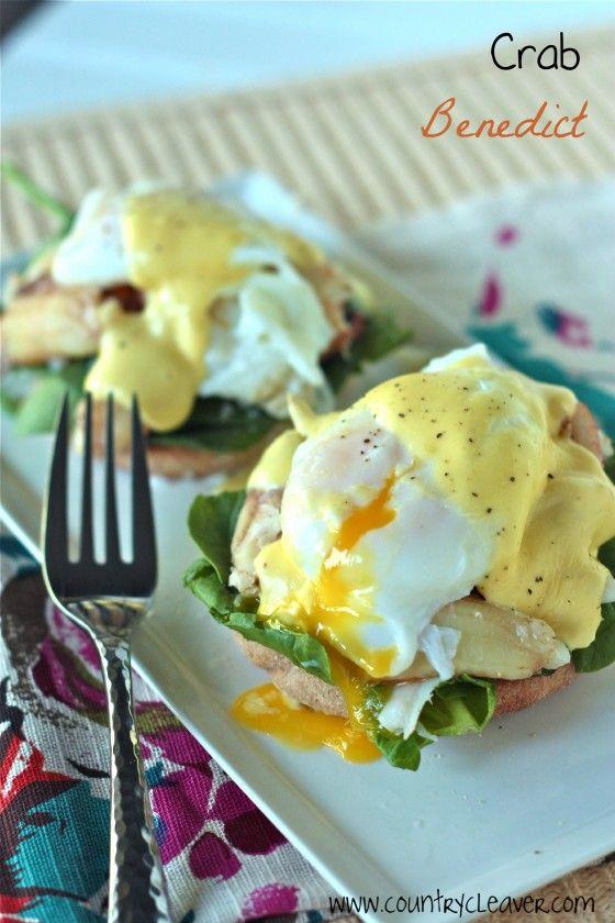 Crab Eggs Benedict. food seafood eggs breakfast brunch