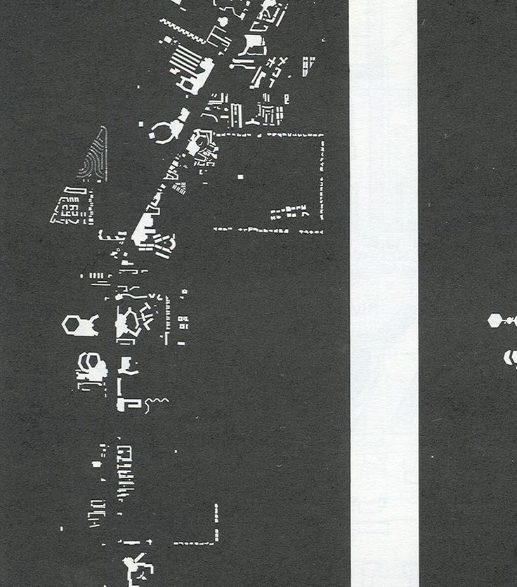 Crop of the Nolli Map of Vegas from Learning from Las Vegas Robert Venturi & Denise Scott Brown