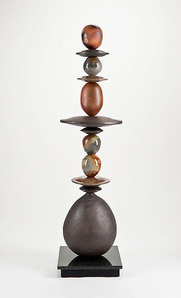 Woodfire Totem: Victoria Shaw: Ceramic Sculpture - Artful Home