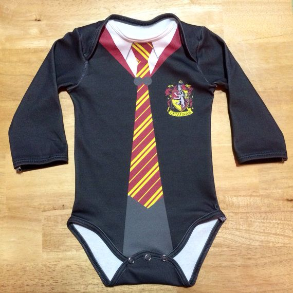Harry Potter 3-6 month Long-Sleeve Gryffindor by InkandSpool