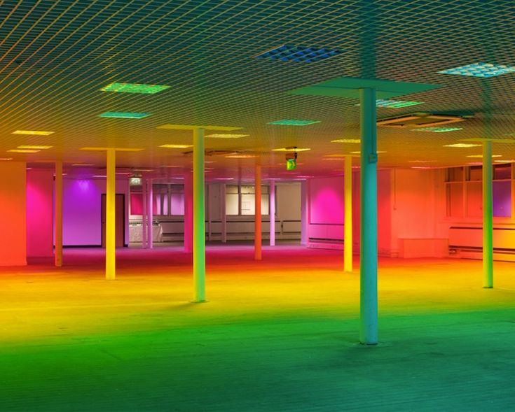 Liz West turns a Manchester Gallery into a giant rainbow