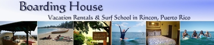 Rincon PR - Boarding House We are a Surf School and Guesthouse located in Barrio Puntas, the most peaceful and beautiful area of Rincon Puerto Rico. A unique area with uncrowded roads, sweeping ocean views, and not a street light for miles. For more information on Rincon PR visit www.surfrinconpr.com
