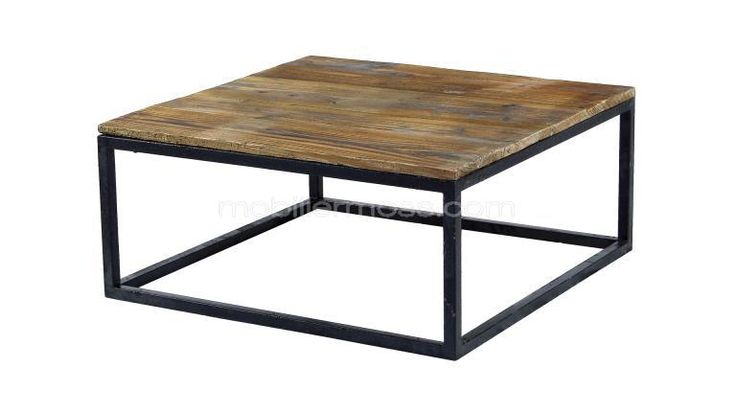 Smoldy table basse de salon vintage style industriel for Table de salon style industriel