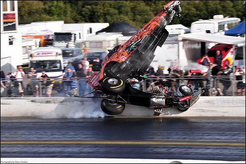 Dragster Crashes  Crash Auto Monday Spectacular drag racing