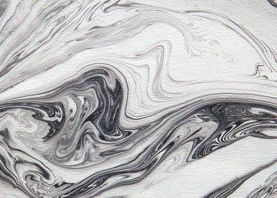 Japanese art of paper marbling: suminagashi