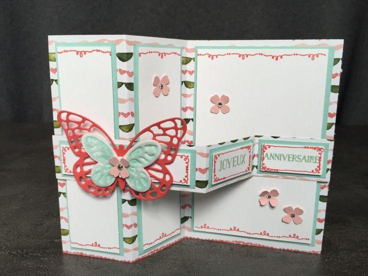 carte double z anniversaire coffret de souhait famelits papillon audacieux thinlits papillons. Black Bedroom Furniture Sets. Home Design Ideas