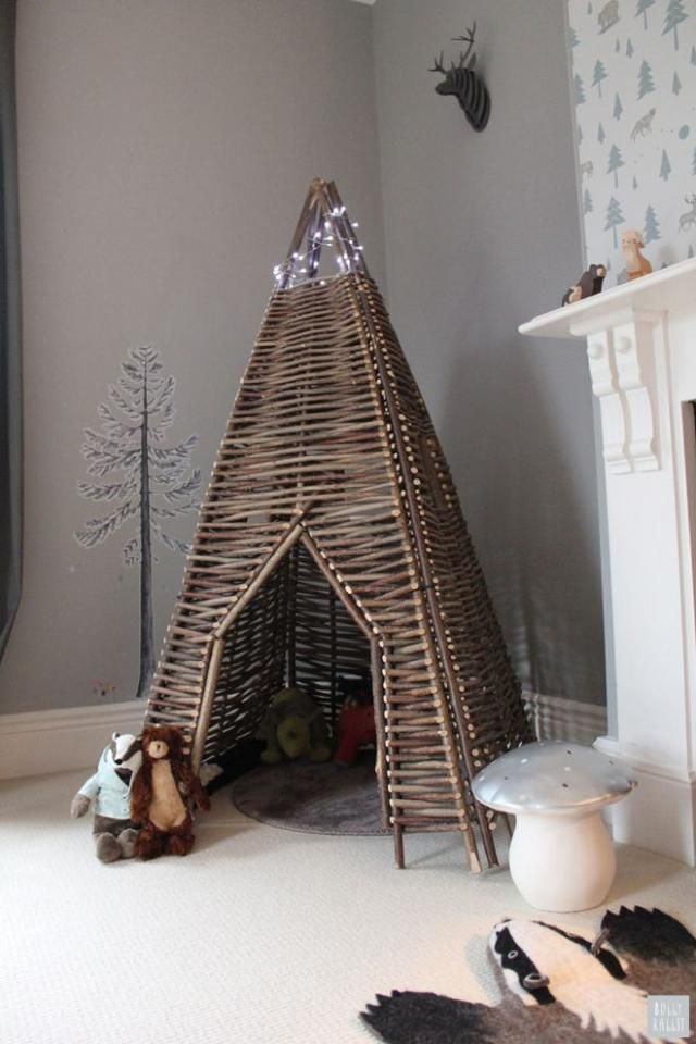 twigwam by Cox and Cox - handwoven from young hazel branches, this rustic looking wigwam is robust, hard-wearing and eco friendly