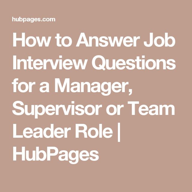 Best 25+ Supervisor interview questions ideas on Pinterest - sample resume team leader