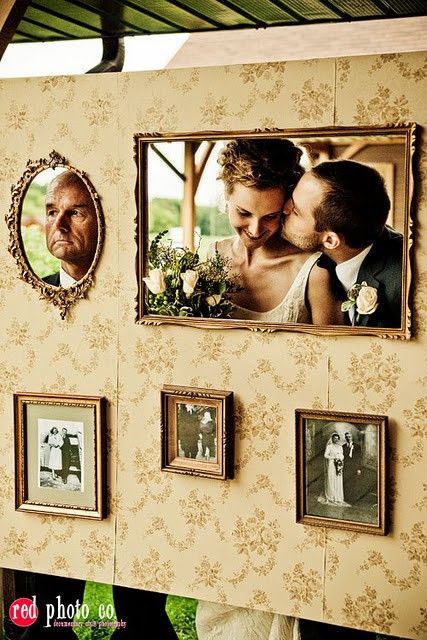 Photo Booth Picture Wall.. I want to do this!