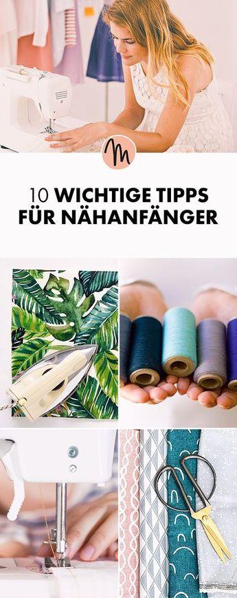 Die wichtigsten Tipps und Tricks für Nähanfänger via Makerist.de #nähenmitma…