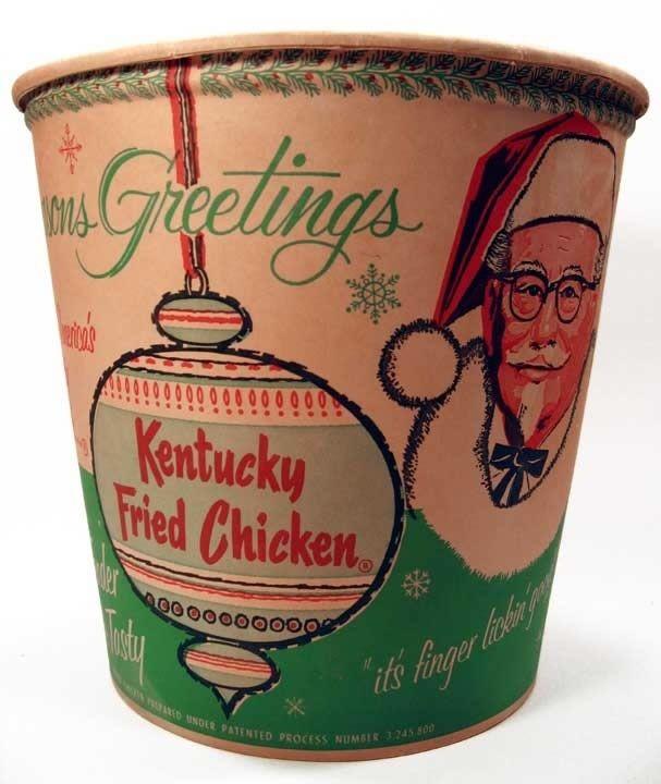 vintage Kentucky Fried Chicken bucket  It isn't 50's maybe...but it is nostalgic! I love it. :-)