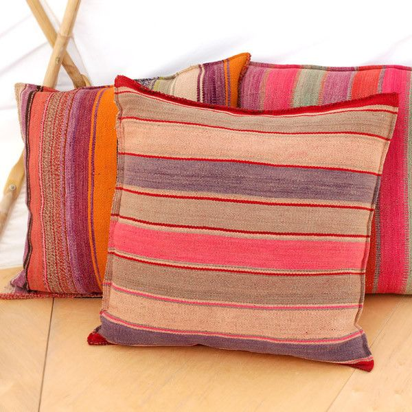 bolivian pillows handdyed handloomed vintage south american wool blankets converted