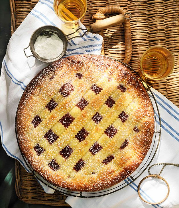 RHUBARB AND RASPBERRY JAM CROSTATA | Just Desserts! | Pinterest