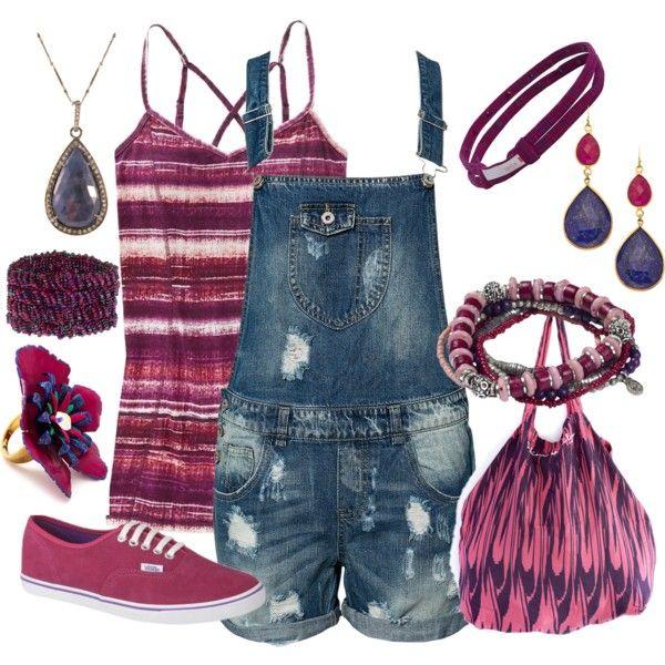 fuchsia outfit