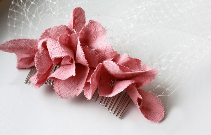 Dusty Pink Rose Birdcage VeilHair Ideas, Pink Roses, Soft Pink, Birdcage Veils, Rose Birdcages, Dusty Pink, 40 00, Dusty Rose, Birdcages Veils