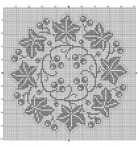 Round 30 | Free chart for cross-stitch, filet crochet | Chart for pattern - Gráfico