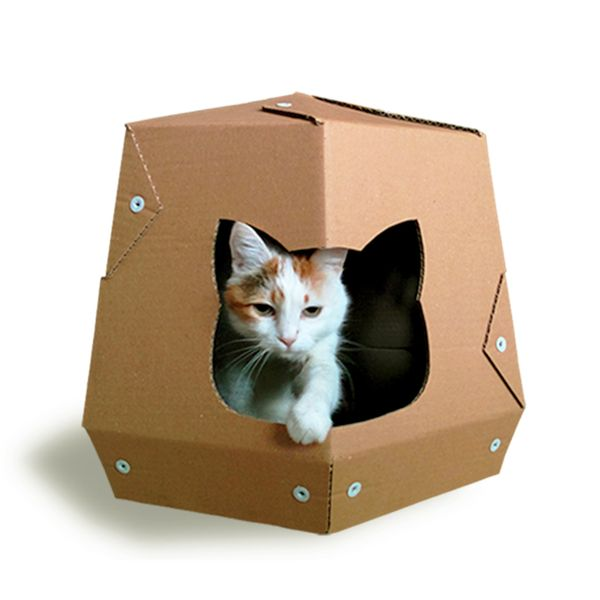 Martian Cardboard Cat House from Cacao Furniture by DaWanda.com