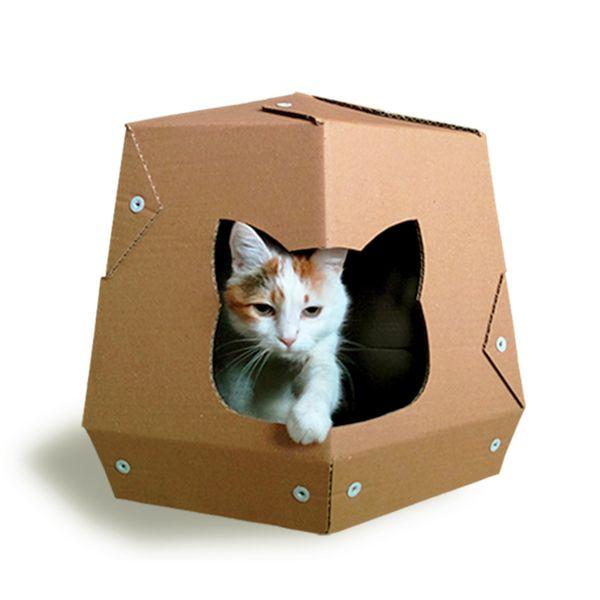 Martian Cardboard Cat House from Cacao Furniture by DaWanda.com