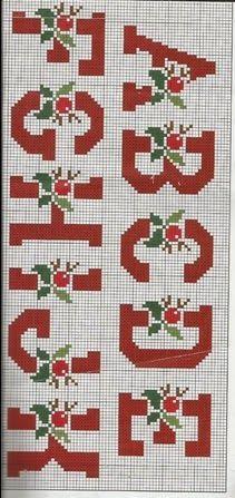 Bordado Passo a Passo: Monogramas para bordar em ponto cruz