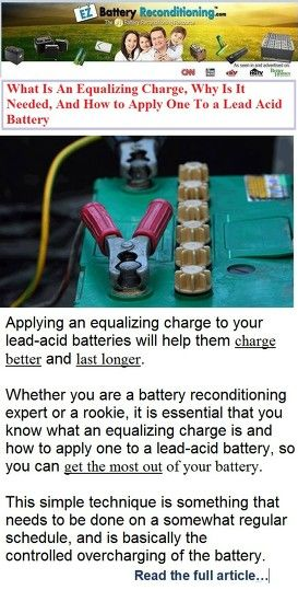The EZ Battery Reconditioning™ course is the easy to follow, step-by-step system anyone can use to recondition all kinds of old or dead batteries with just simple supplies you probably already have in your home.    battery reconditioning, at home, products, watches, environment, did you know, cars, conservation, solar power, wind power, energy storage  http://restore-batteries-by-reconditioning-them.weebly.com/ez5.html