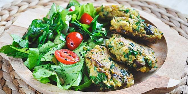 This green chickpea patties with tahini sauce recipe is not only delicious, but healthy too! I'm sure these chickpea patties will become your favorite too!
