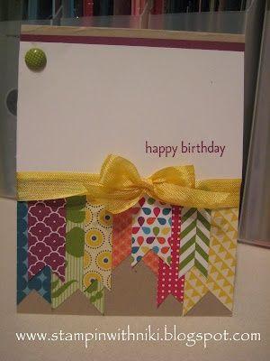 birthday card, using scraps @ DIY Home Ideas