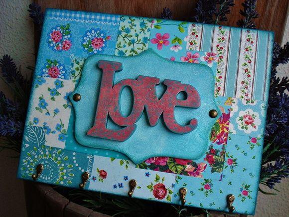 Porta-chaves (Claviculário) Love
