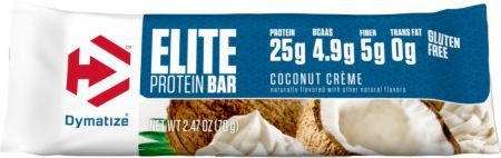 Dymatize Elite Protein Bar Coconut Creme 1 - 70g Bar DYM4380023 Coconut Creme - 4G Or More Of Bcaas Proven To Help Build Muscle And Aid Recovery*