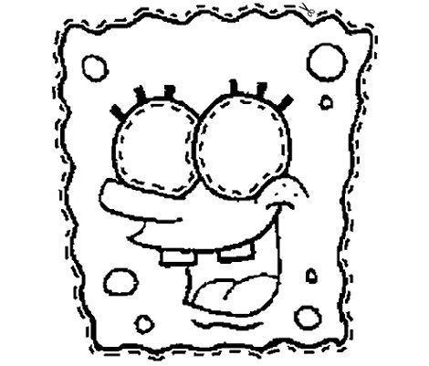 make a spongebob mask coloring page