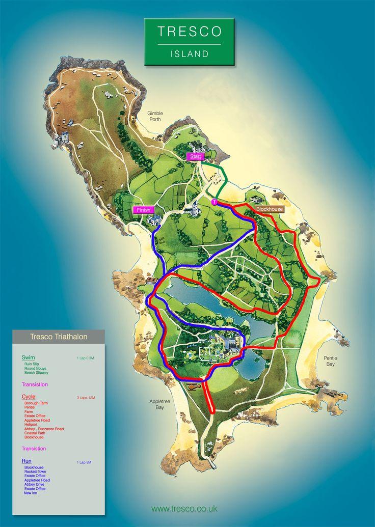Map Of Tresco England Pinterest Desktop Screenshot