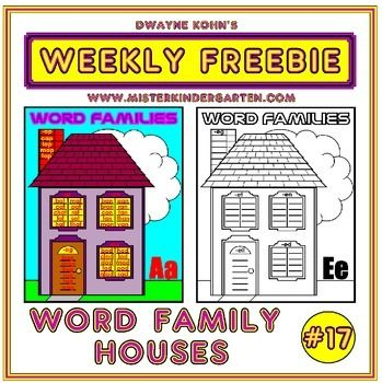 Students write word families in the windows, door and even chimney of each house! There is a house for each vowel (a, e, i, o, u) as well as a blank house if you wish to mix the vowels or come up with additional word families!Each house is available in three formats: a black and white student reproducible with space for up to 10 rhyming words for each family; a simplified version with longer lines and space for up to 5 rhyming words for each family; and a full color version that includes…
