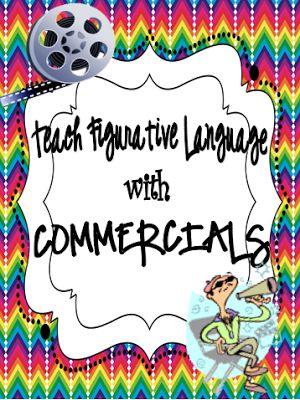 Classroom Magic: Teaching Figurative Language with Commercials FREEBIE! How fun!!