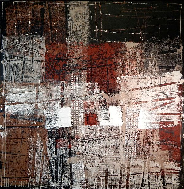 DEEP RED by OLGA SHAGINA.   Belongs to the gallery RUSSIAN ARTISTS NEW WAVE.  Original painting currently available for sale, please contact through Fine Art America email. Big sized original painting selling unframed.  #RussianArtistsNewWave #Painting #Abstraction #InteriorDesign #HomeDecor #InteriorIdeas #OriginalPaintingForSale