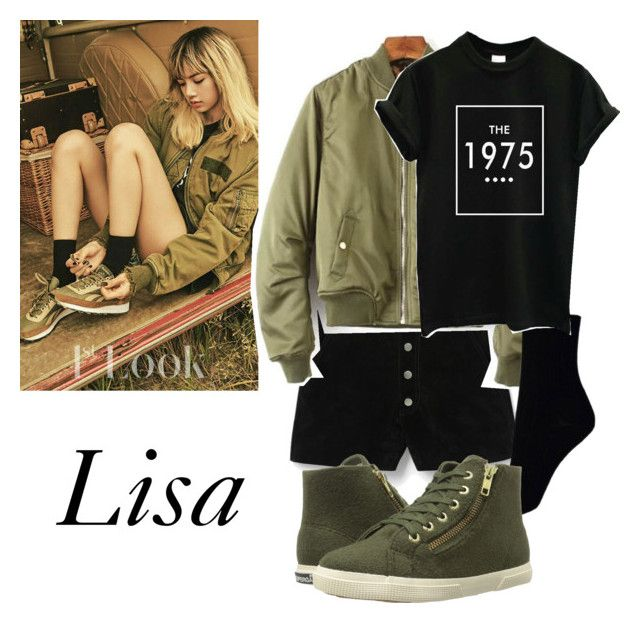 """""""lisa"""" by milkdytea ❤ liked on Polyvore featuring MANGO and Superga"""