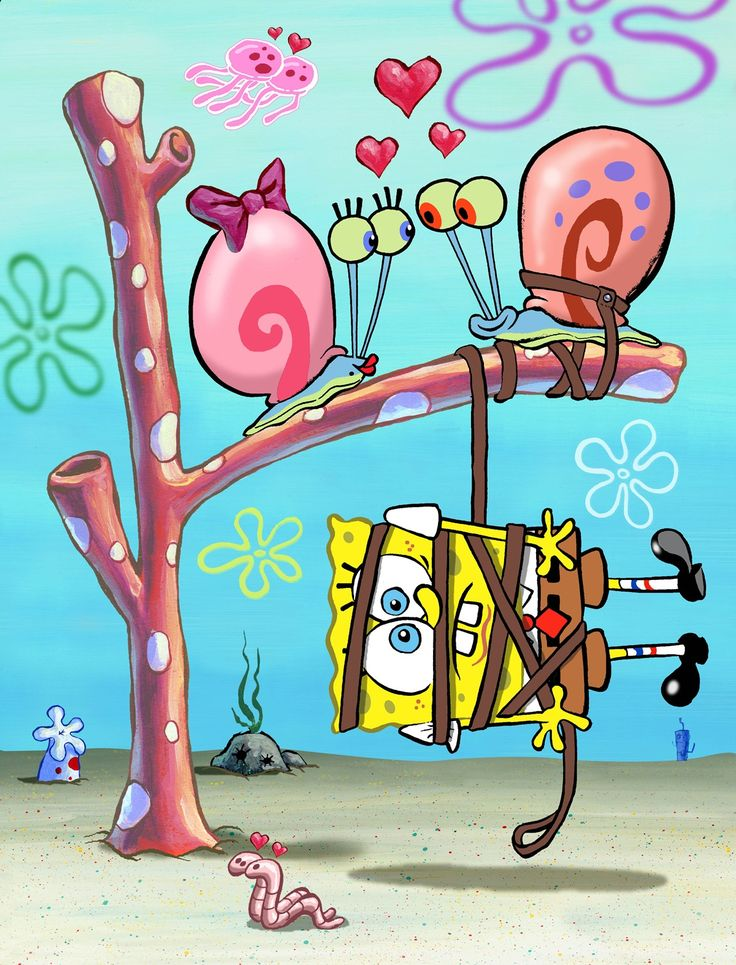 Gary Spongebob | SpongeBob Gary the Snail and Snelly Village Voice love hearts cartoon ...